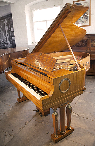 A 1919, Steinway Model O Grand Piano For sale with an Empire Style Mahogany Case. Cabinet Features Ornate Brass Ormolu in  Neoclassical and Egyptian Motifs