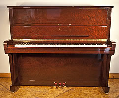 Modern Steinway Model V Upright Piano