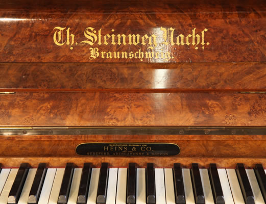 Steinweg Nachf manufacturers name on fall