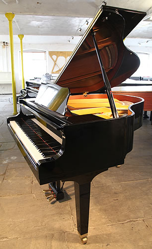 Yamaha GA1 baby grand Piano for sale with a black case and polyester finish.