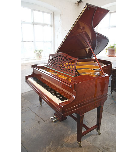 A 1913, Bechstein Model B Grand Piano For Sale with a Mahogany Case with Stringing Inlay