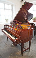An 1913, Bechstein Model B Grand Piano For Sale with a Mahogany Case with Stringing Inlay. Piano Formerly Belonged to British Music Hall Singer Ronnie Ronalde. Ronnie Ronalde