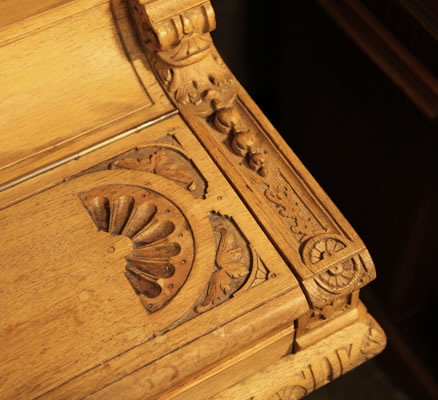 Hupfer ornately carved piano fall