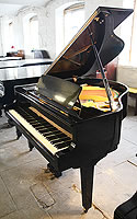 Rosler Model 140 baby grand piano for sale with a black case