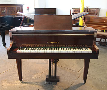 Squire Butterfly Baby Grand Piano For Sale with a Mahogany Case