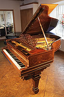 Artcase, Steinway model A grand piano for sale with a rosewood case. Cabinet features Satinwood stringing inlay