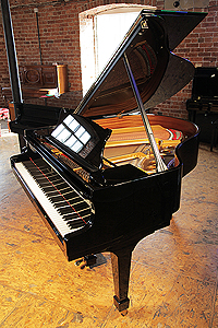 Steinway Model S grand piano for sale with a black case.