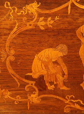 Steinway  inlaid panel detail