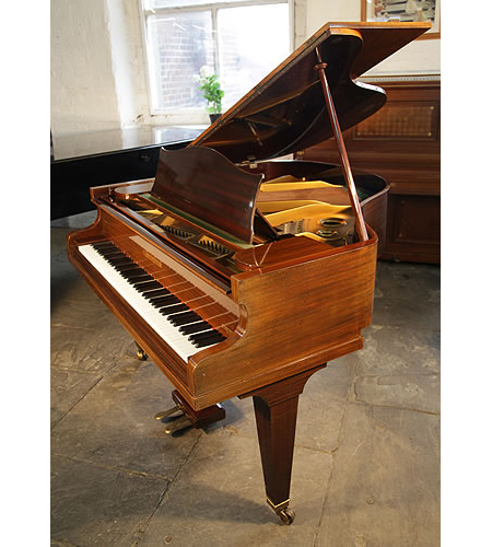 A 1902, Bechstein Model S grand piano with a mahogany case and square, tapered legs
