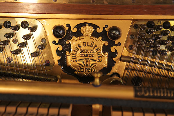 Bluthner manufacturers mark on frame