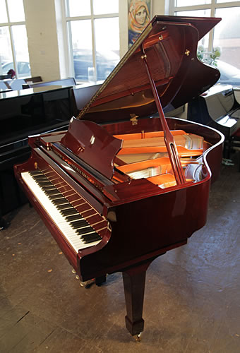 A 2012, Halle and Voight WG160 baby grand piano for sale with a mahogany case and fitted Baldwin Concertmaster II system