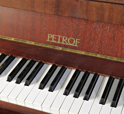 Petrof Upright Piano For Sale With A Polished Mahogany