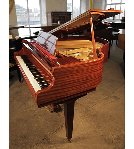 A Reid-Sohn SG140A Baby Grand Piano with a Mahogany Case