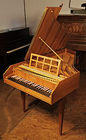 A Sperrhake Passau harpsichord with a satinwood case and boxwood stringing