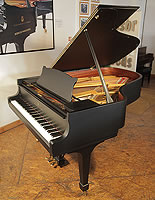 Steinway Model A grand piano for sale with a black satin case