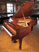 A 1993, Crown Jewels, Steinway Model B grand piano with a stunning, bubinga case