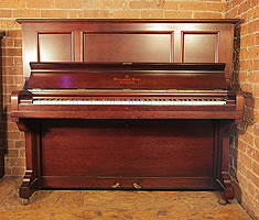 Antique, 1906, Steinway Model K vertegrand Upright Piano For Sale with a Rosewood Case