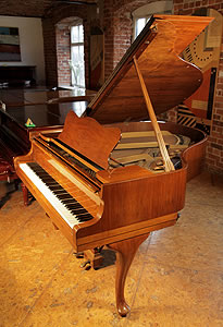 Steinway Model S grand piano for sale with a walnut case.