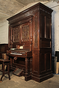 An Orchestrelle Co Self-Playing Harmonium with a Neoclassical style, Mahogany Case