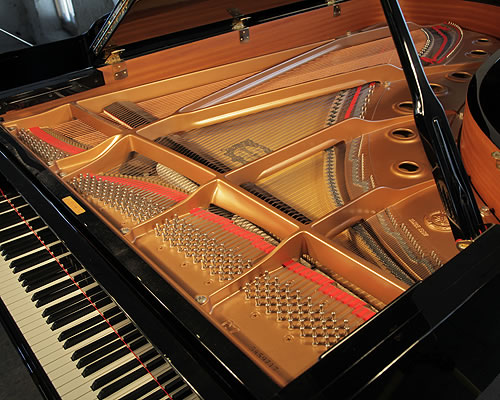 Yamaha c7 grand piano for sale with a black case modern for Yamaha dealers in my area