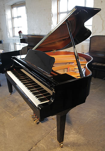 Yamaha ga1 baby grand piano for sale with a black case for How big is a grand piano
