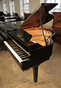A Yamaha GA1 grand piano for sale with a black case and polyester finish.