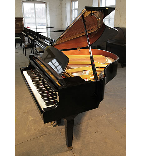 1988, Yamaha GH1 grand piano for sale with a black case and polyester finish