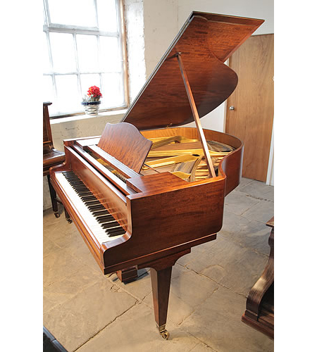 A 1936, Bluthner Baby Grand Piano For Sale with a Fiddleback Mahogany Case