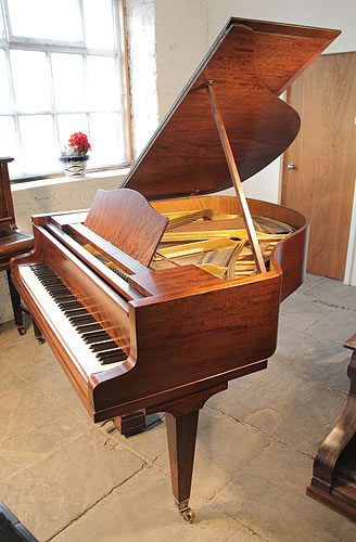 Bluthner baby grand piano for sale with a fiddleback for How big is a grand piano
