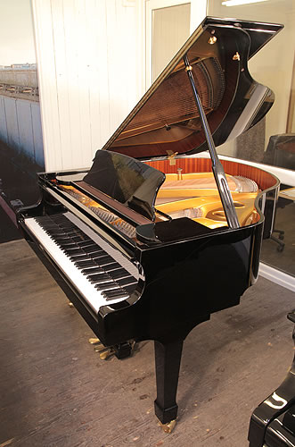 Halle and Voight WG160 grand Piano for sale with a black case.