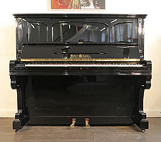 Antique, Ritter Halle Upright Piano For Sale with a  Black Case