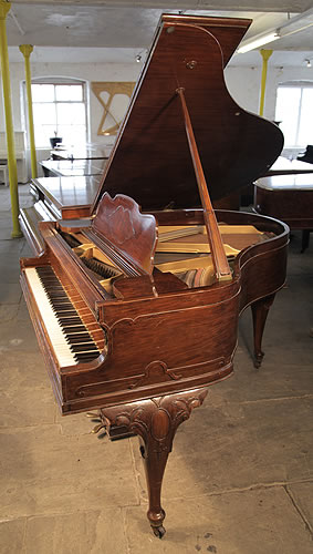 A queen anne style steck baby grand piano for sale with a for Big grand piano