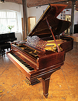 A 1906, Steinway Model B grand piano with a rosewood case and spade legs