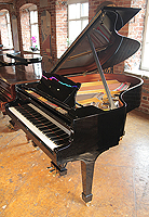 Pre-owned, 2006, Steinway Model O Grand Piano For Sale with a  black case and spade legs