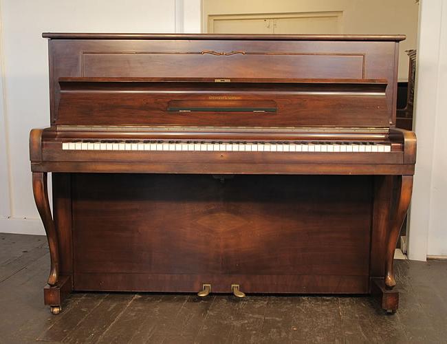 A 1939, Steinway Model Z upright piano with a  walnut case