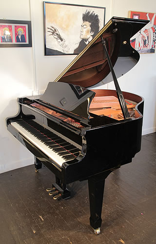 Weber w150 grand piano for sale with a black case and for How big is a grand piano
