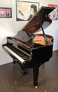 Weber W-150 Baby Grand Piano For Sale with a Black Case