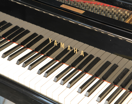 Yamaha c3 grand piano for sale with a black case modern for Yamaha c3 piano review