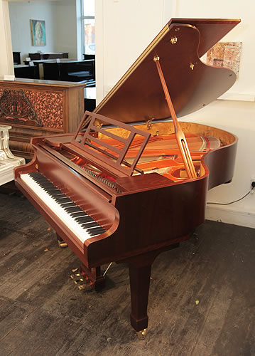 Feurich Model 178 grand Piano for sale with a satin, walnut case.