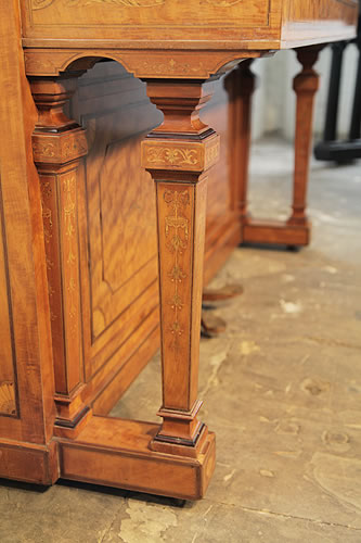 Hopkinson  inlaid piano leg detail