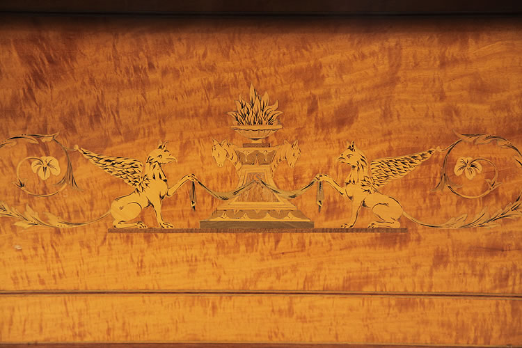 Bottom panel detail featuring two griffins sejant