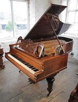 An 1887, Ibach Richard Wagner grand piano with a rosewood case
