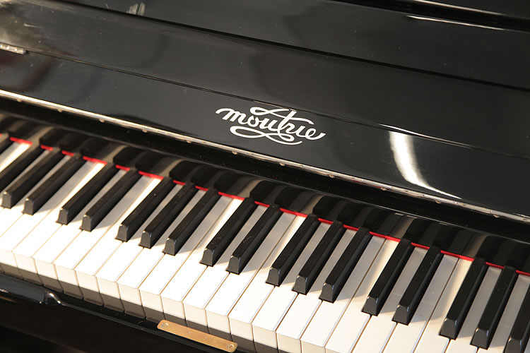 Moutrie Upright Piano For Sale With A Black Case And