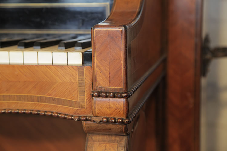 Pleyel quartered, rosewood and beading detail