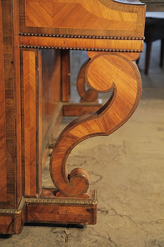 Pleyel inlaid, double scroll piano leg