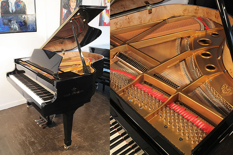A brand new,  Steinberg WS-T166 grand piano with a black case