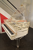 Pre-owned,  Steinhoven grand piano with a transparent, acrylic case with fitted PianoDisc iQ digital player system