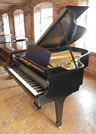Piano for sale. A 1942, Steinway Model A grand piano with a black case and spade legs. This piano never had a serial number put on the frame although it appears in Steinway, Hamburg's delivery book under 310054