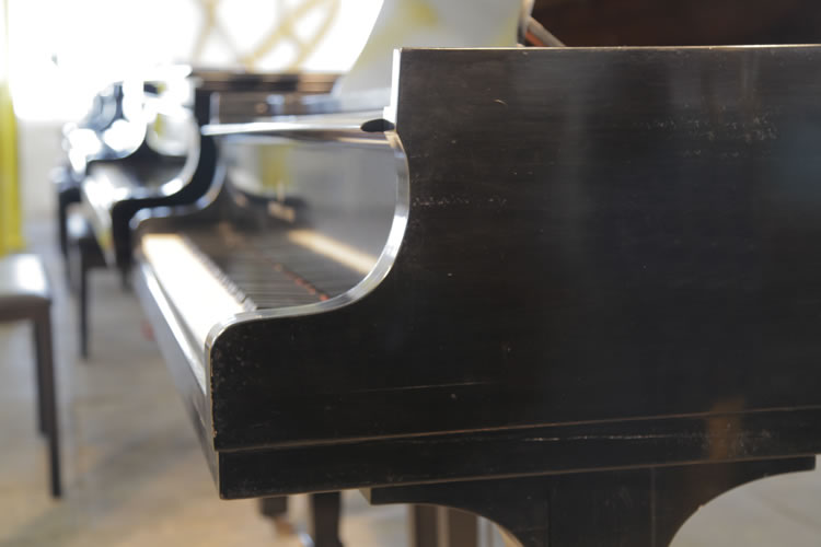 Steinway Model S piano cheek detail