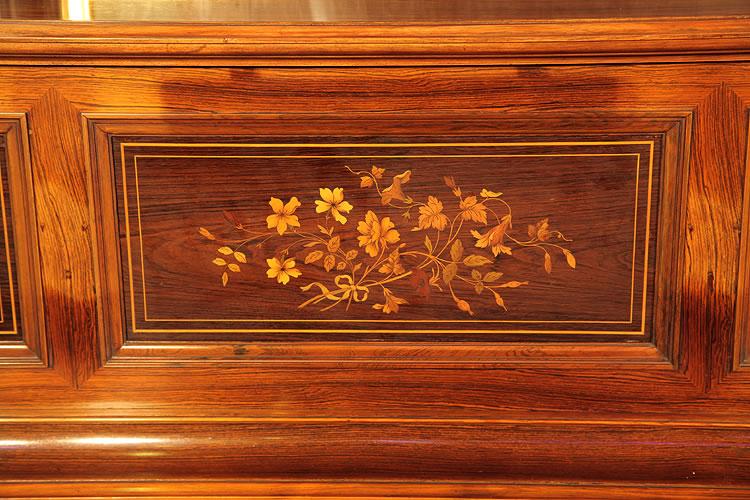 Steinway  upright  piano inlaid panel